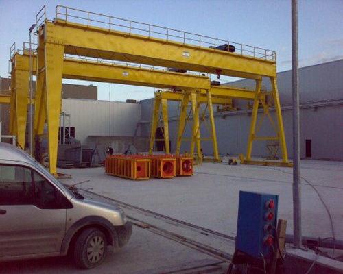Ellsen double girder 100 ton ganrty crane for sale